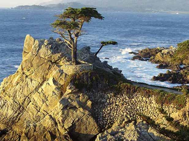 Красивый морской горный пейзаж с