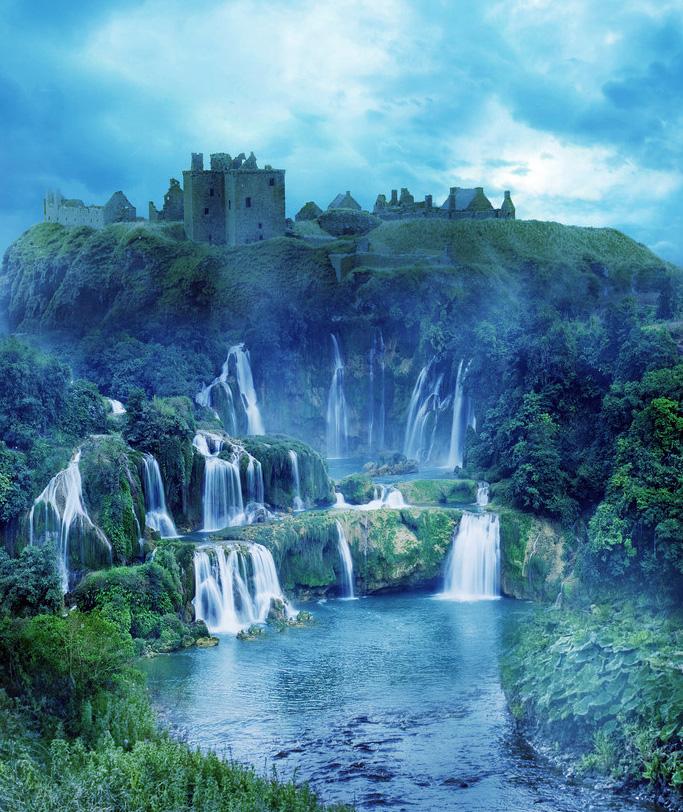 Множество маленьких водопадов